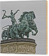 Heros Square Statue Wood Print