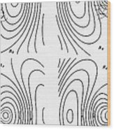 Hertzs Flux Lines Wood Print by Science Source