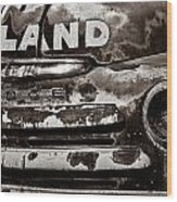 Hi-land  -bw Wood Print by Christopher Holmes