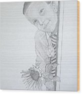 Hi Mum Wood Print by Peter Edward Green