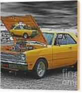 Hi-powered Dodge Abstract Wood Print