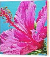 Hibiscus Crystal Luster Wood Print