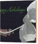 Hibiscus Holiday Card Wood Print