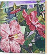 Hibiscus Seductris Wood Print