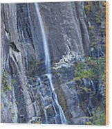 Hickory Nut Falls Chimney Rock State Park Wood Print