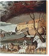 Hicks: Noahs Ark, 1846 Wood Print