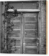 Hidden Door B And W Wood Print