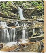 Hidden Falls At Hanging Rock Wood Print