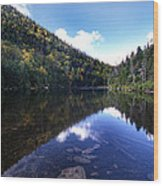 Hidden Mountain Pond  Wood Print