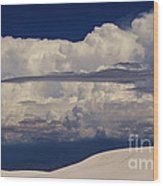 Hidden Mountains In The Shadows Of The Storm Wood Print