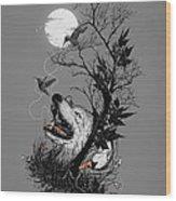 Hide Wood Print