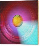 Higgs Boson Particle, Artwork Wood Print