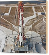 High-angle View Of The Apollo 10 Space Wood Print