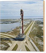 High Angle View  Of The Apollo 14space Wood Print