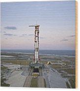 High-angle View Of The Apollo 8 Wood Print