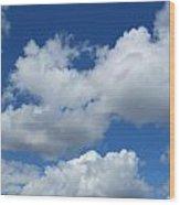 High Clouds Wood Print