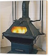High Efficiency Multi-fuel Stove Wood Print by Mark Sykes