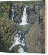 High Falls Grand Portage Wood Print