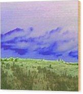 High Green Pastures  Wood Print