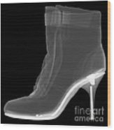 High Heel Boot X-ray Wood Print