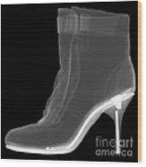 High Heel Boot X-ray Wood Print