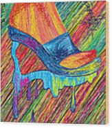 High Heels Abstraction Wood Print by Kenal Louis