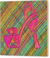 High Heels Power Wood Print