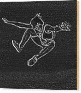 High Jump II Wood Print