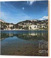 High Mountain Paradise Wood Print