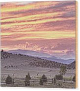 High Park Fire Larimer County Colorado At Sunset Wood Print