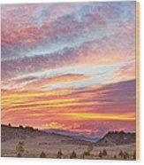 High Park Wildfire Sunset Sky Wood Print