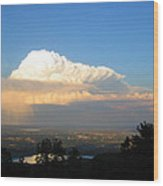 High Plains Thunder Wood Print