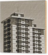High Rise Apartments Wood Print