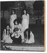 High School Play, Original Caption Miss Wood Print