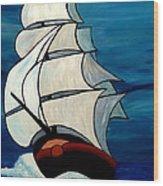 High Sea Wood Print