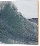 High Stormy Seas Wood Print