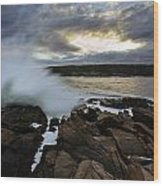 High Tide At Otter Point Wood Print