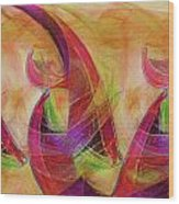 High Vibrational Wood Print by Linda Sannuti