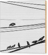 Higher Seven  Wood Print