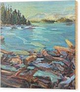 Highest Tide Rebecca Spit Wood Print