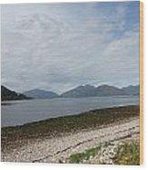 Highland Shore Wood Print