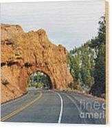 Highway 12 In Utah Wood Print