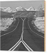 Highway 52   Wood Print