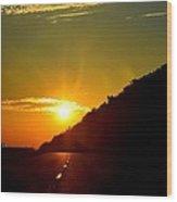 Highway Sunrise 2 Wood Print