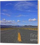 Highway To Nowhere Wood Print
