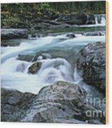 Highwood River Wood Print by Bob Christopher