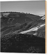Hills Of Light And Darkness II Wood Print