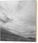 Hillside Meets Sky Wood Print