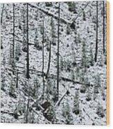 Hillside Pattern  Wood Print