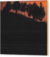 Hillside Silhouettes Wood Print